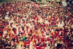 """Bougies dans la place principale dans le """"de ToruÅ, Pologne image stock"""