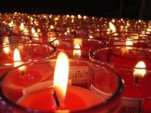 Bougies dans le verre Images libres de droits
