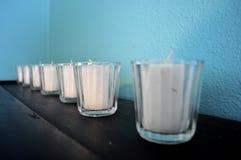 Bougies dans une ligne Photo libre de droits