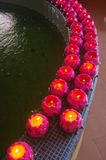 Bougies dans une rangée Image libre de droits