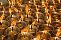 Bougies de beurre Images stock