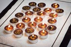 Bougies de calendrier d'arrivée Image libre de droits