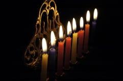 Bougies de Chanuka Photographie stock libre de droits