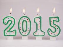 Bougies 2015 de chiffres Images libres de droits