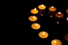 bougies de Coeur-forme photo libre de droits