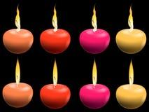 Bougies de couleur Photographie stock