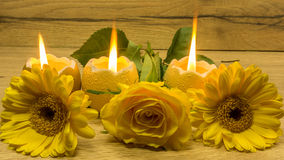 Bougies de décoration de Pâques Images stock