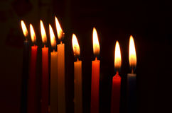 Bougies de Hanukah Image stock