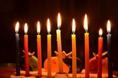 Bougies de Hanukah Photos stock