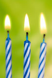 Bougies de joyeux anniversaire Photo libre de droits