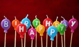 Bougies de joyeux anniversaire Photos stock