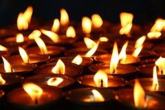 Bougies de Lit Photos stock