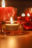Bougies de Lit dans l'obscurité Photos libres de droits