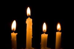 Bougies de lueur de chandelle Photographie stock