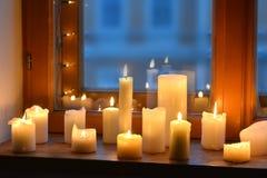 Bougies de lumière Photos stock