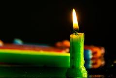 Bougies de lumière Images stock