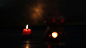 Bougies de lumière Photo libre de droits