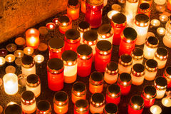 Bougies de mémoire Photos libres de droits