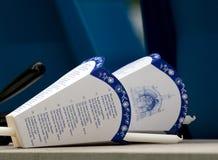 Bougies de masse catholiques Images libres de droits