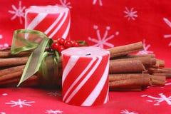 Bougies de menthe poivrée Images libres de droits
