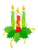 Bougies de Noël illustration de vecteur