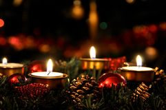 Bougies de Noël Photo stock