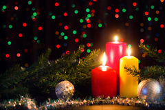 Bougies de Noël Images libres de droits