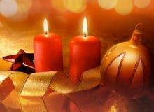 Bougies de Noël Photographie stock libre de droits