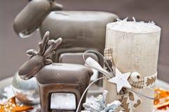 Bougies de Noël de la table decoration Images libres de droits