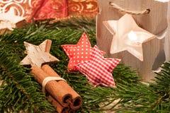 Bougies de Noël de la table decoration Photographie stock libre de droits