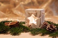 Bougies de Noël de la table decoration Photo libre de droits
