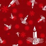 Bougies de Noël de vecteur Photos libres de droits