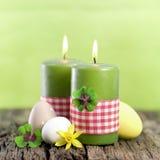 Bougies de Pâques Photographie stock libre de droits