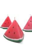 Bougies de pastèque Images libres de droits