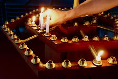 Bougies de prière photo libre de droits