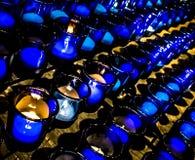 Bougies de prière de Louis Basilica Side Altar Blue de saint Images libres de droits