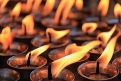 Bougies de souvenir Images libres de droits