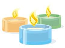 Bougies de station thermale image libre de droits