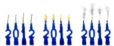Bougies de statut 2012 Image stock