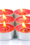 Bougies de Tealight Photo libre de droits