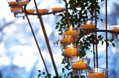 Bougies de Tealight Photographie stock libre de droits