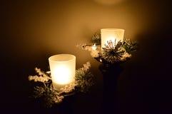 Bougies de vacances d'hiver Photo libre de droits