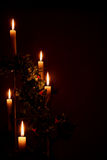 Bougies de vacances de Noël Photo stock