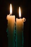 bougies deux photographie stock libre de droits