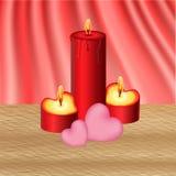 Bougies du ` s de Valentine Images stock