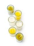 Bougies en glaces en verre Photos libres de droits