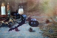 Bougies et fantômes Image stock