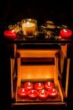 Bougies et lames Photographie stock libre de droits