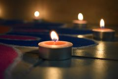 Bougies et lumière images libres de droits
