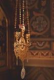 Bougies et plan rapproché de lampe Photographie stock